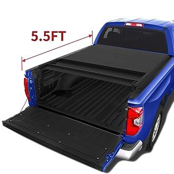 Tundra Bed Cover >> Amazon Com Oedro Quad Fold Tonneau Cover Soft Four Fold