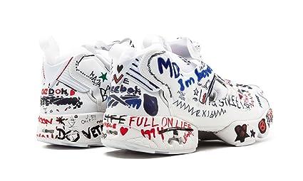 Reebok Instapump Fury x Vetements Graffiti - White White Trainer Size 8 UK   Amazon.co.uk  Shoes   Bags 8e45a5fcf