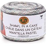 Lion Brand Shawl in a Cake Yarn-Om Opal - Metallic