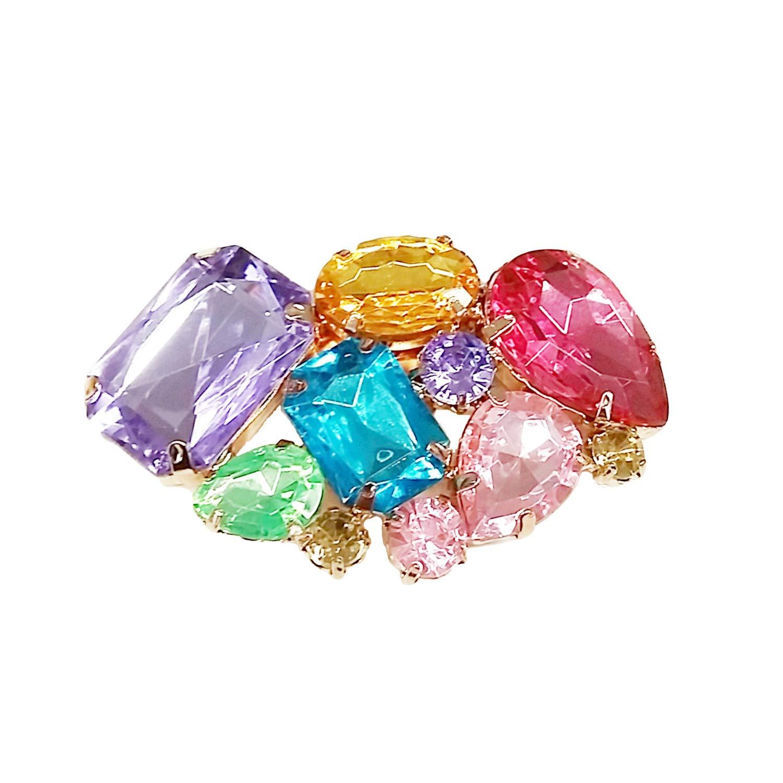 La Loria Colour Style strass couleur multicolore Amovible Accessoires Bijoux de chaussures 2 pc