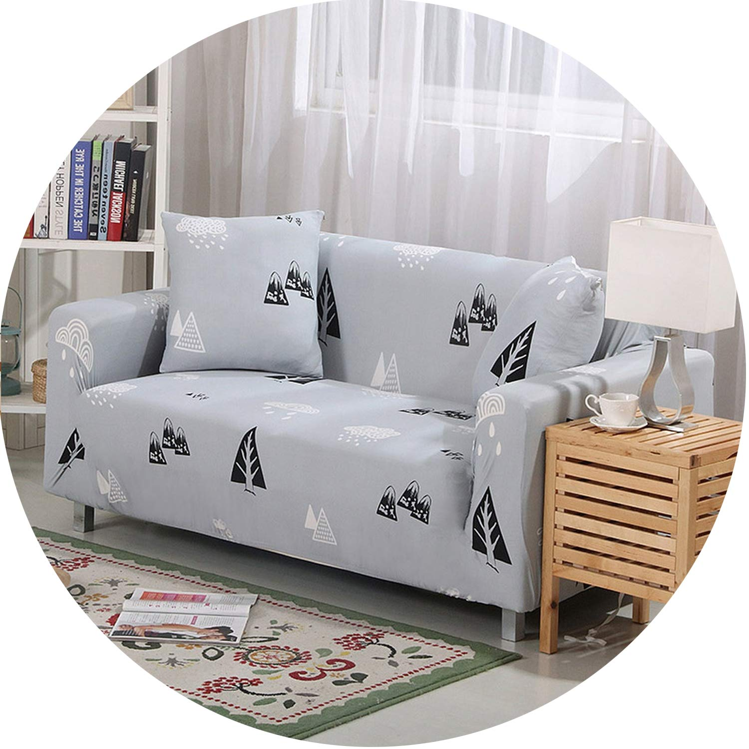 Elastic Slipcovers Sofa Removable All-Inclusive Couch Cover Sofa Cover,Color 3,Cushion Cover 2Pcs