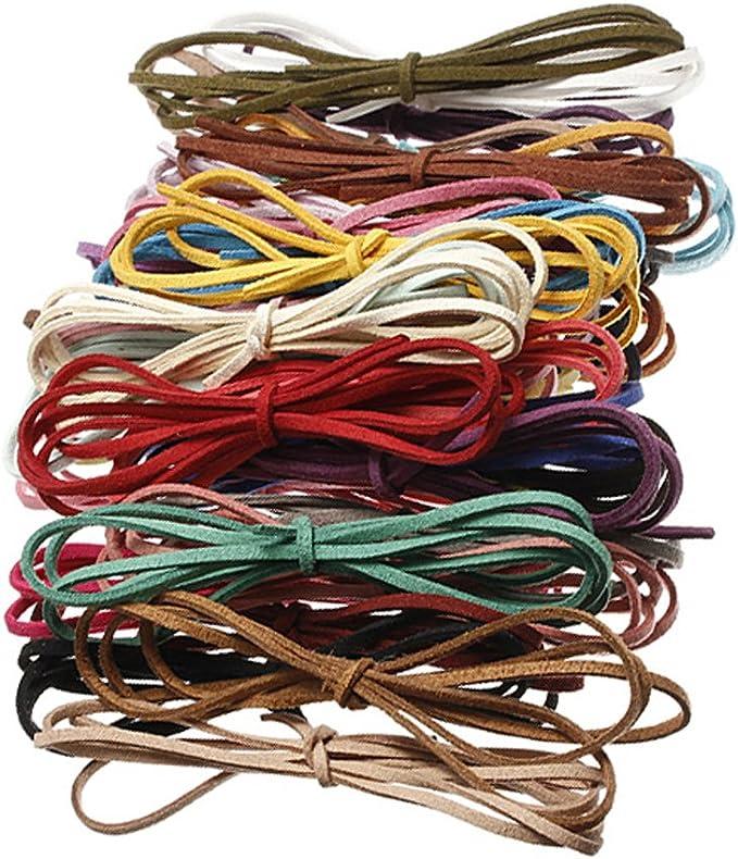 7 Mm Cosido sintética el cordón de cuero con puntos Para Pulseras 5