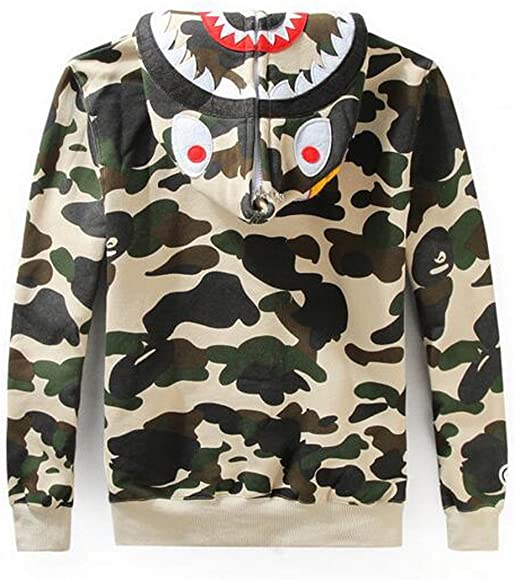 TOP Fighting Mens Camouflage Jacket Hooded Sweater