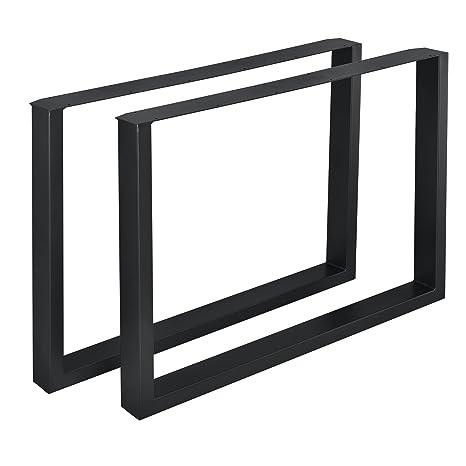 [en.casa]®] 2 x Conjunto de Patas de Mesa - Set de 2X Patas de Mesa - Metal - Patas de los Muebles - 100 x 72 cm - para Mesa de Comedor - Armazón de ...