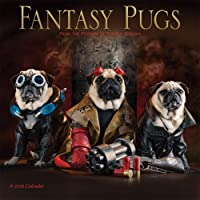 Fantasy Pugs 2018 12 x 12 Inch Monthly Square Wall Calendar