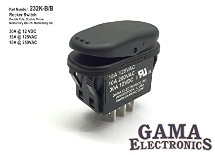 Attractive GAMA Electronics Waterproof 30 Amp Double Pole 3 Position Momentary  On Off Momentary On