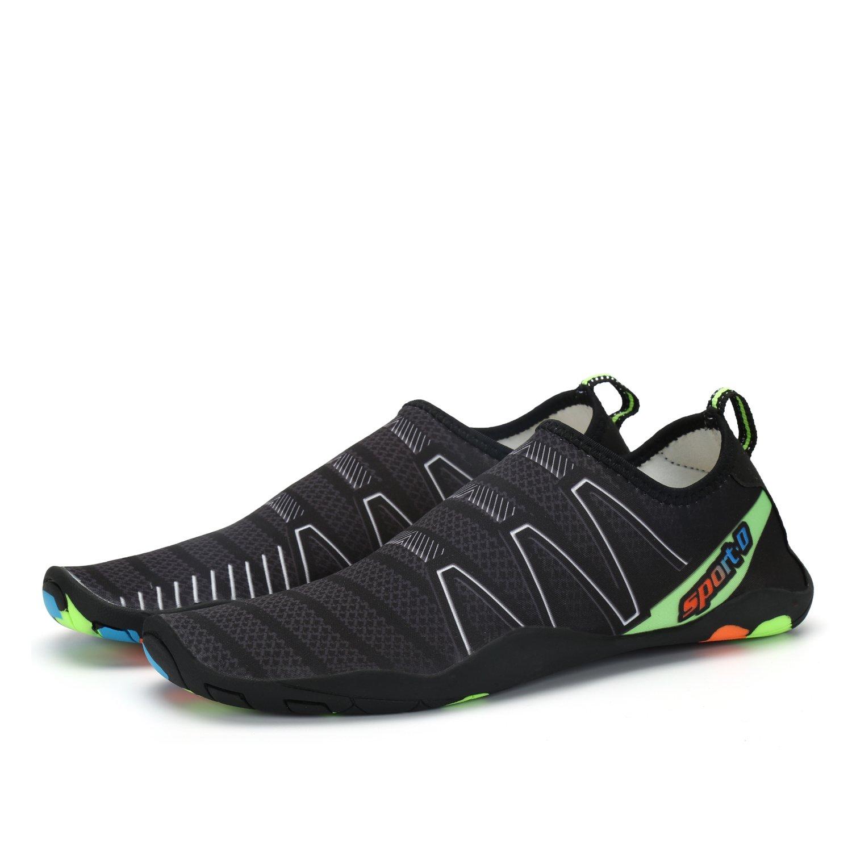 284a8afca02d4 Voovix Aqua Shoes Escarpines Hombres Mujer Zapatos de Agua Zapatillas  Ligeros de Secado Rápido Para Swim Beach Surf Yoga  Amazon.es  Zapatos y  complementos