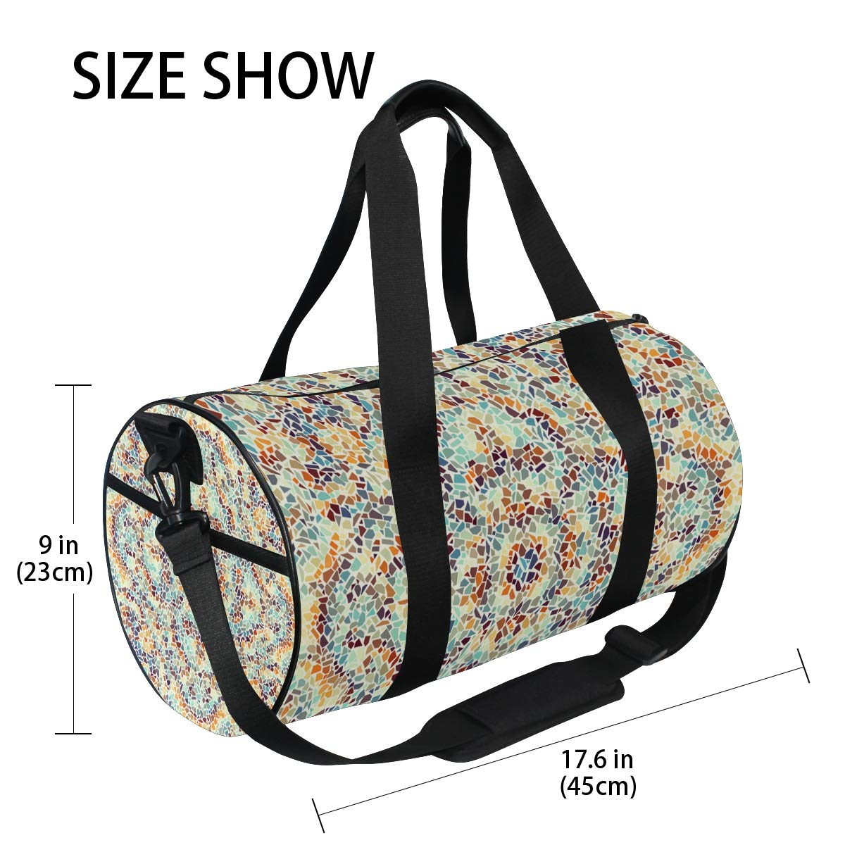 Psychedelic Classic Ceramic PictureWaterproof Non-Slip Wearable Crossbody Bag fitness bag Shoulder Bag