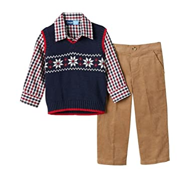 4a806f5d7 Amazon.com  Great Guy Baby Toddler 3 pc Dress Clothes- Vest