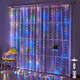 300L Led Curtain String Lights for Bedroom Deco Wedding Party Christmas Indoor/ Outdoor Decoration USB Hanging Light with Rem