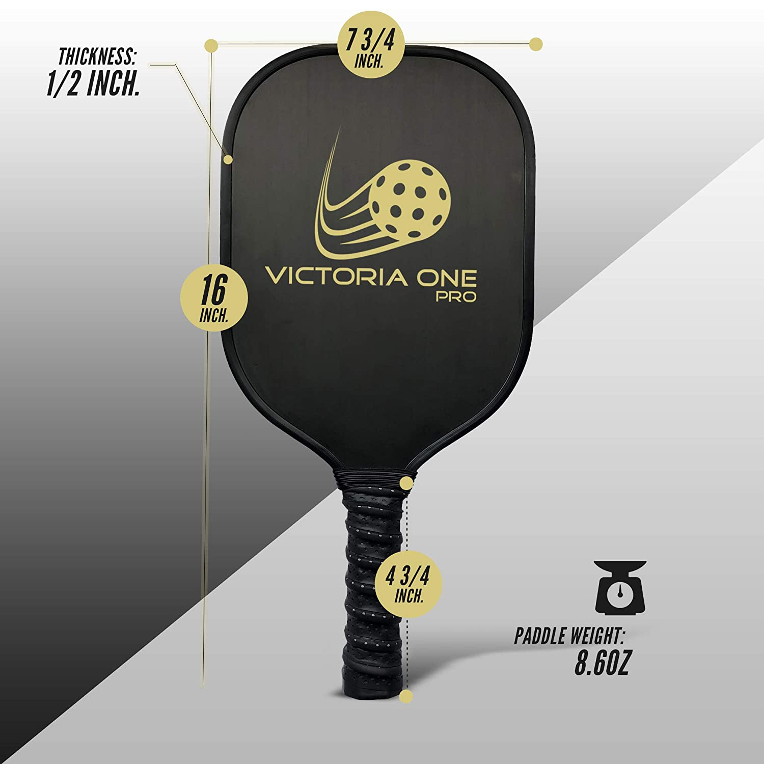 Amazon.com: Victoria One Pro Pickleball - Juego de 2 palas ...