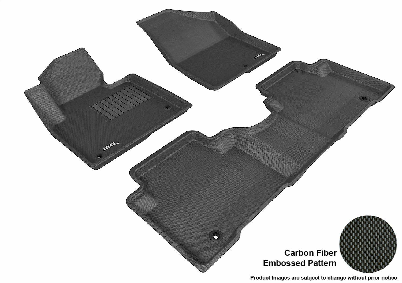Connected Essentials CEM650 Car Mat Set for Rio 2001-2004 Premium Black with Blue Trim
