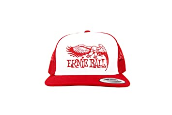 6739de20c13 Image Unavailable. Image not available for. Color  Ernie Ball Red with White  Front and Red Ernie Ball Eagle Logo Hat