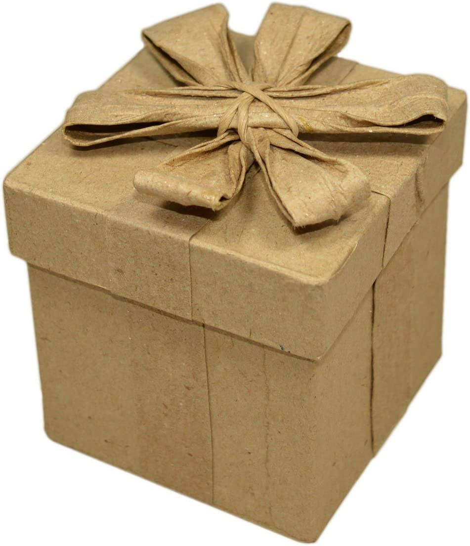 Cartón con tapa y lazo 5 xH6, 6cm - caja de regalo para Manualidades pintar decorar: Amazon.es: Hogar