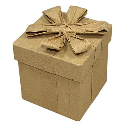 Piccolino Bastelbedarf Caja de cartón con tapa & Lazo 7,8 x 7,8