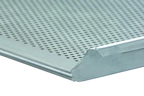 Bandeja 60/40 x 3 x 2 cm borde perforado Chapa de aluminio ...