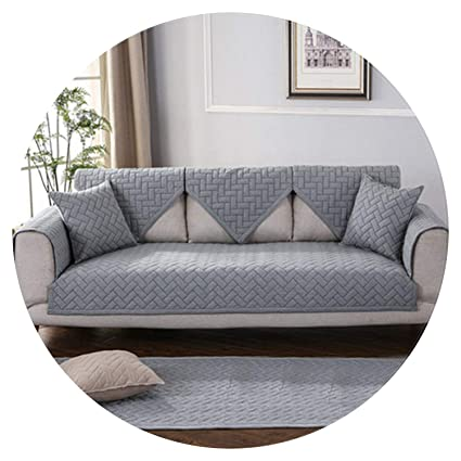 Amazon.com: Modern Style Blue Grey Khaki Quilted Sofa ...