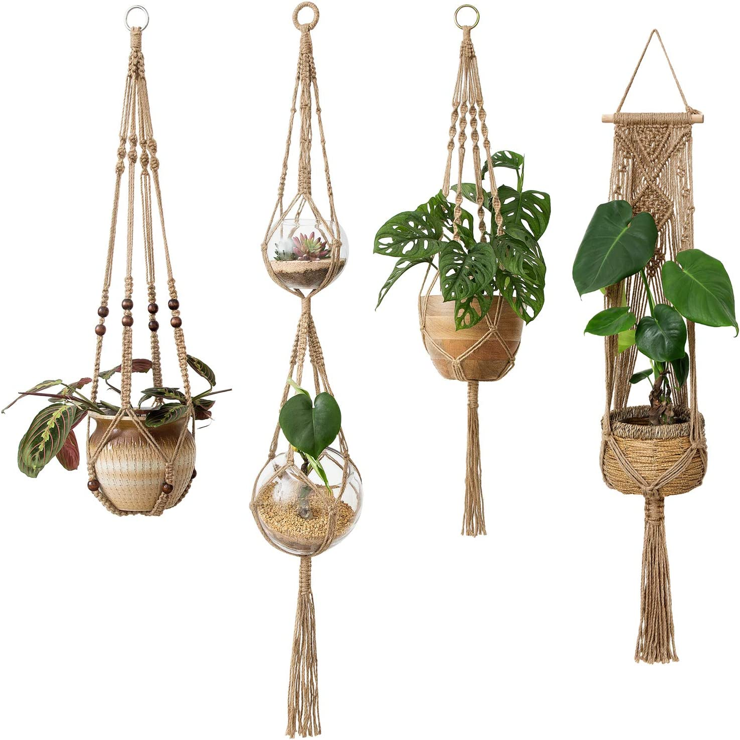 Housewarming Gift For Her Plant Lovers Outdoor Pot Holder Blue Polycord Macrame Plant Hanger Large 54 Sturdy Hanging Indoor Planters