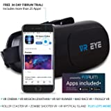 Bitmore VR Eye 3D Virtual Reality Headset for Smartphones iOS and Android with Remote Control