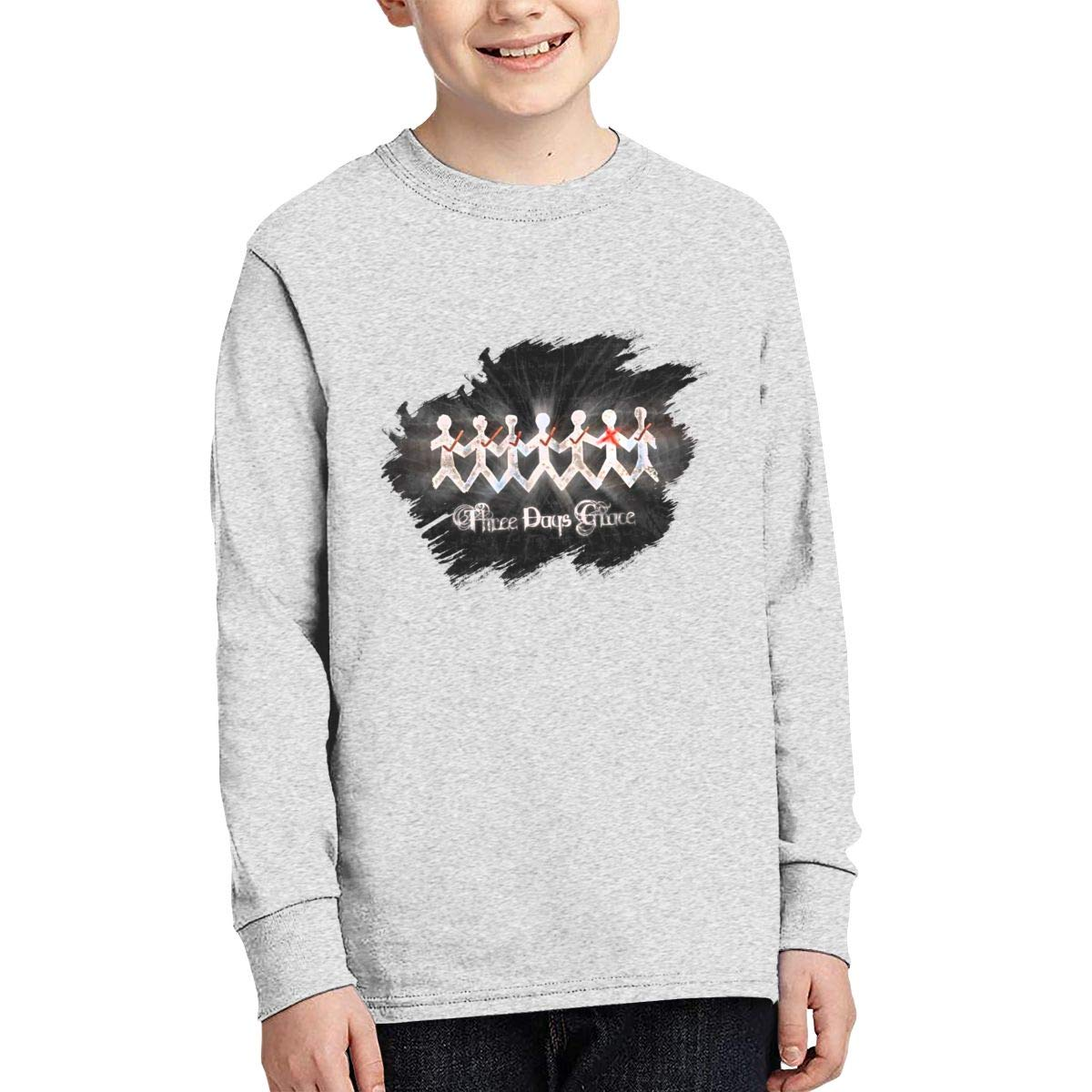 HangHisi Three Days Grace Boys /& Girls O Neck Regular Style Tee Long Sleeve T Shirt Leisure Black