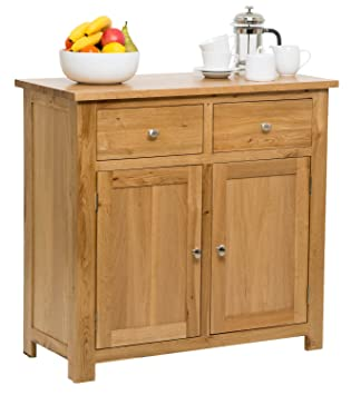 8a2bee90967f Hallowood Waverly Door 2 Drawer Small Sideboard in Light Oak Finish ...