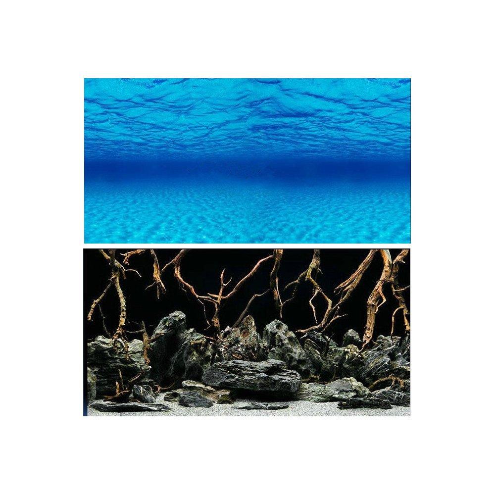 Hleeduo® Aquarium background paper background painting murals picture aquarium background stickers taoli