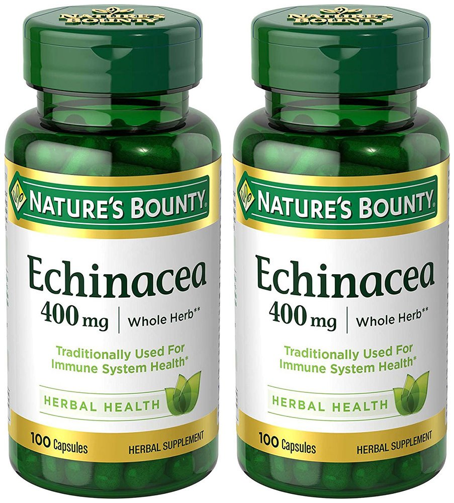 Echinacea 400 mg Natural, 2 Bottles (100 Count)