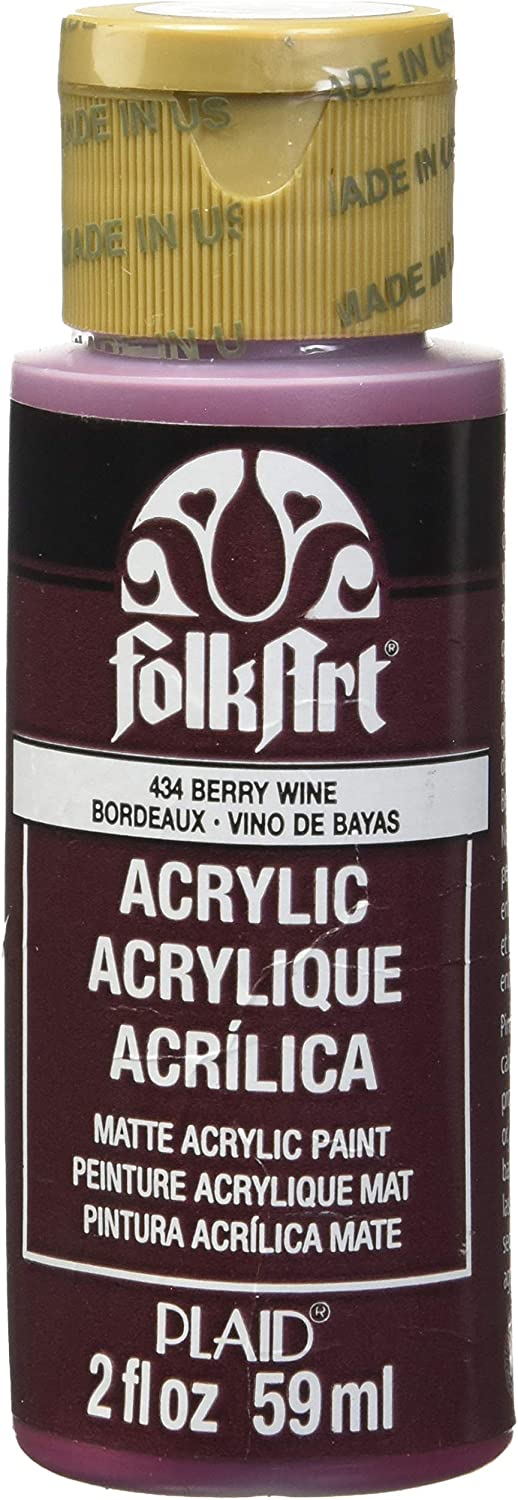 FolkArt Acrylic Paint in Assorted Colors (2 oz), 434, Berry Wine