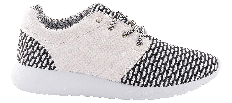 Tamboga Sneakers Uomo Pattini Correnti di Sport Scarpe GRENEE H1627, Farben:Bianco, Gr??e Schuhe:42