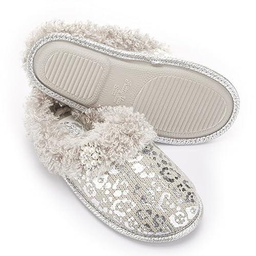 Marci de lámina plateada Zapatillas por Pretty You Londres, color, talla L: Amazon.es: Zapatos y complementos