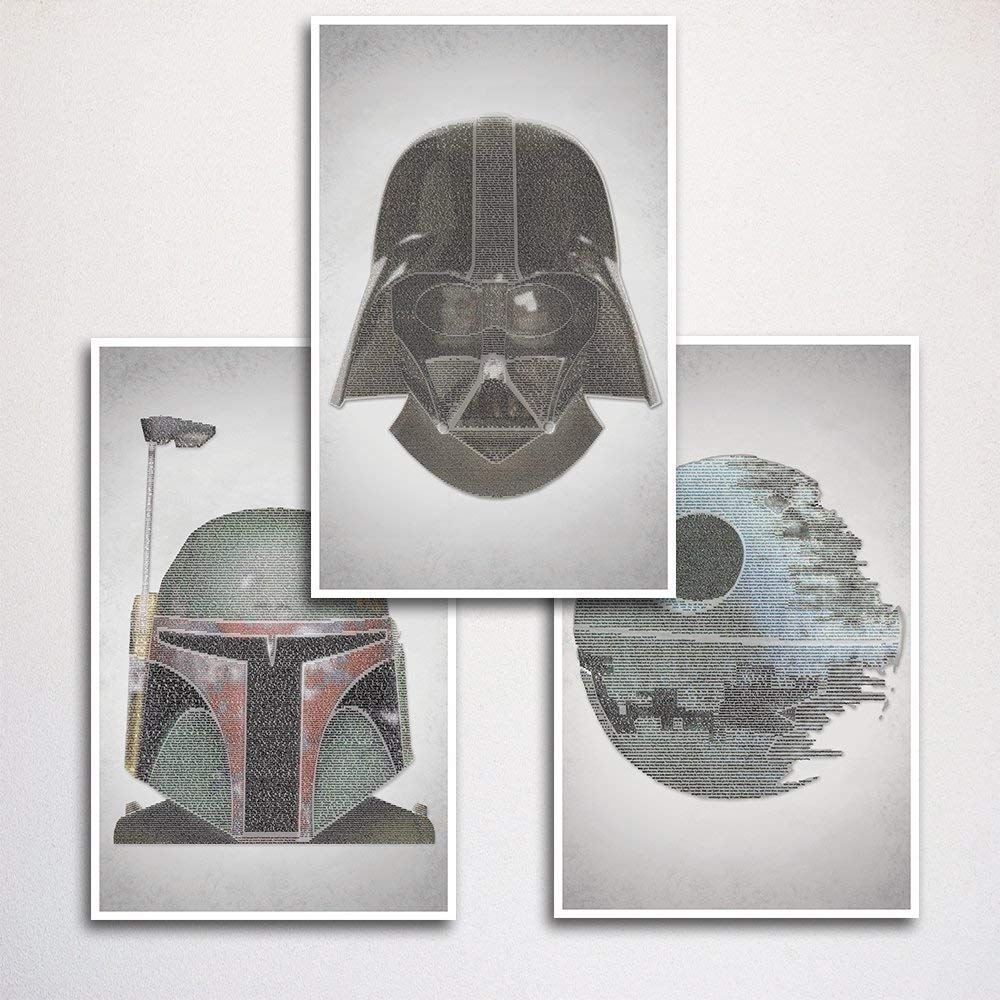 Star Wars Word Art Print Three Set 11x17