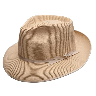 68b1bb98cac033 Stetson Men's Stratoliner Florentine Milan Straw Hat at Amazon Men's  Clothing store: