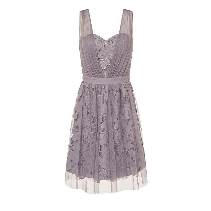 Little Mistress - Vestido de graduación en color lila para mujer (42 EU/Lila): Amazon.es: Ropa y accesorios