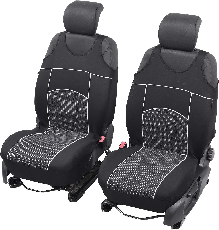 Universelle Sitzbezüge Tuning Extra Kompatibel Mit Skoda Karoq Sitzauflage Überzüge Schonbezüge Vordersitze Schwarz Auto