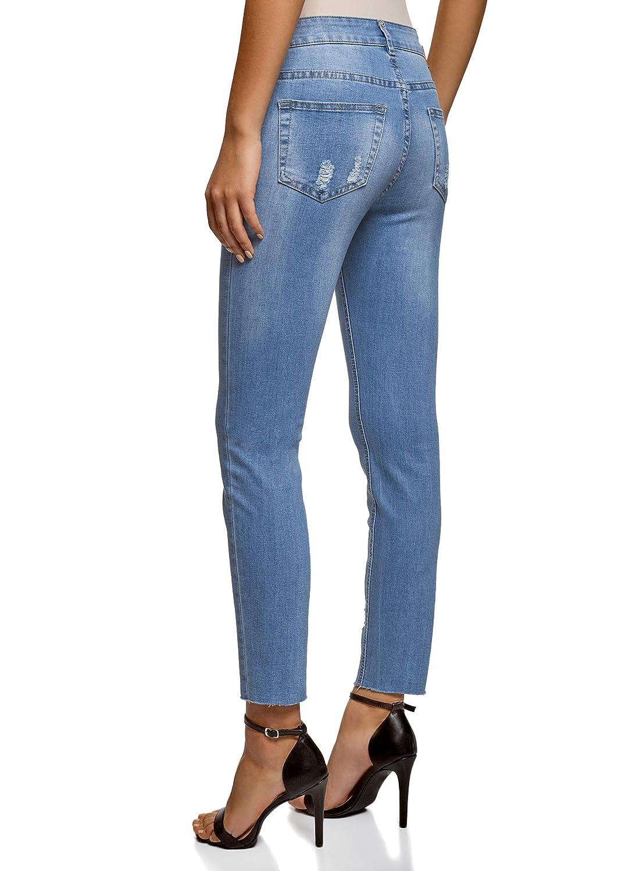 Oodji Ultra Mujer Pantalones Skinny De Viscosa Mujer Pantalones