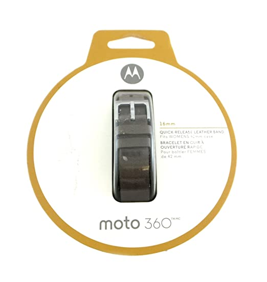 Amazon.com: Motorola Moto 360 16mm Leather Band Womens ...