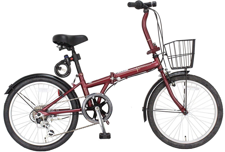JEFFERYS(ジェフリーズ) AMADEUS 20インチ 折りたたみ自転車 FDB206 シマノ6段変速 前後泥除け/カゴ/LEDライト/ワイヤーロック標準装備 JP8572 B00MN3YOBI マットレッド マットレッド