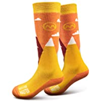 OutdoorMaster Kids Ski Socks - Merino Wool Breathable Blend, Over The Calf (OTC) with Non-Slip Cuff, Sizes 7-11.5 - 12-4…