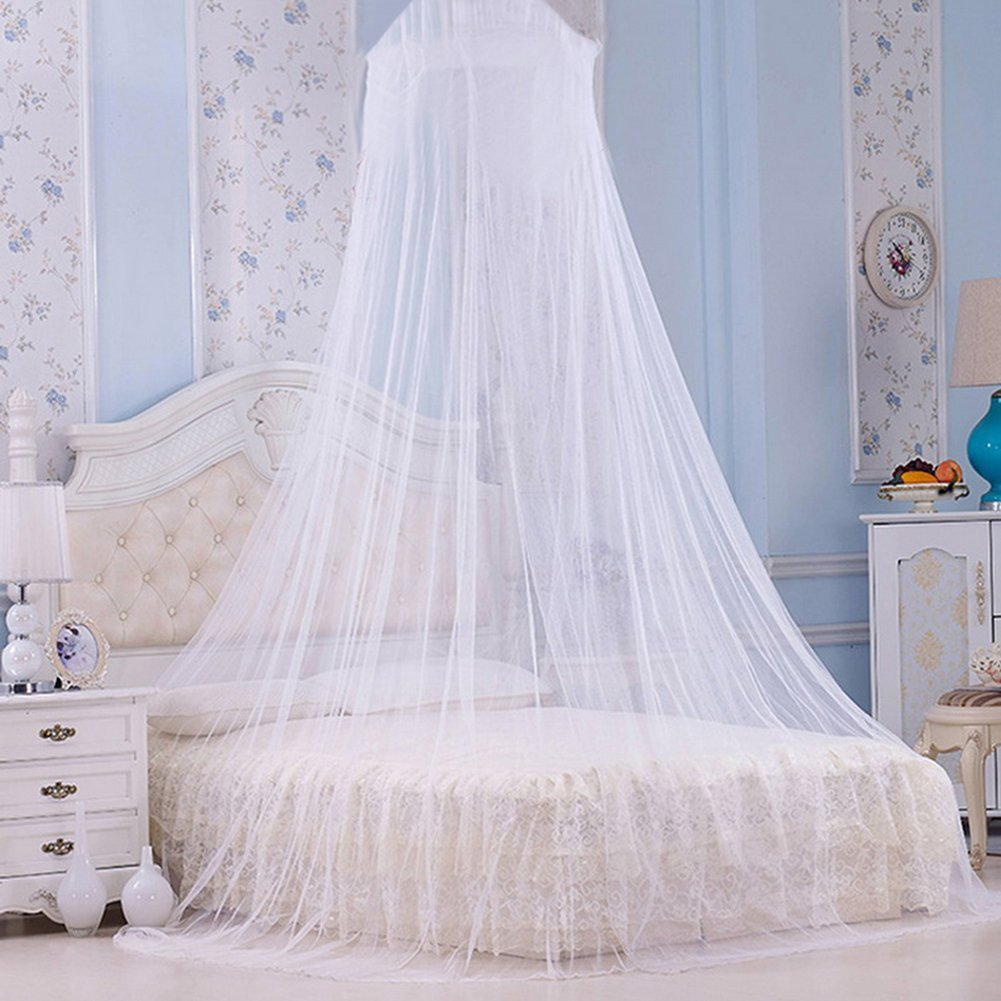 Bed Mosquito Net Canopy Netting Curtain Dome Fly Midges Insect Stopping  White For Holiday Indoor