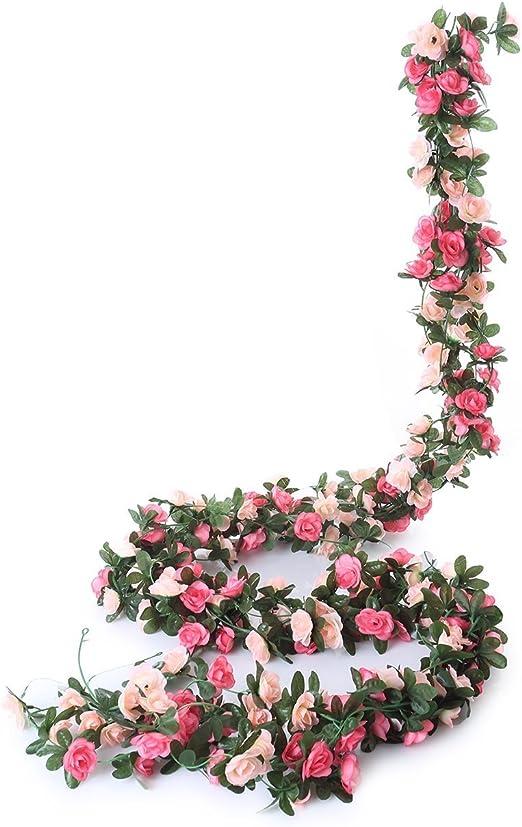 Gift False Flowers Beautiful Artificial Red Flower Head Home Garden Room Rose