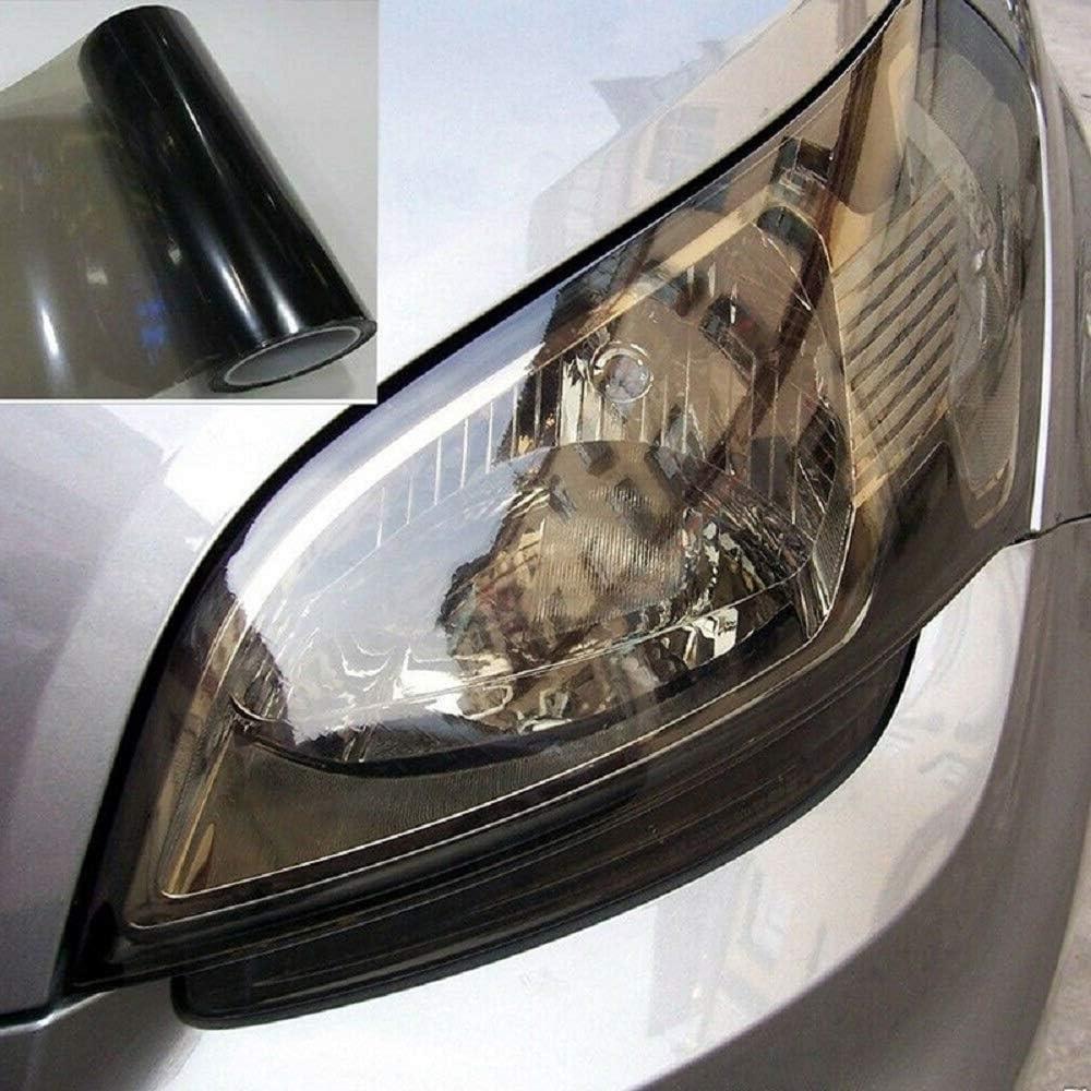noir clair Film teint/é Sunwan pour phares de voiture film teint/é en vinyle pour fen/être feux antibrouillard phares arri/ère
