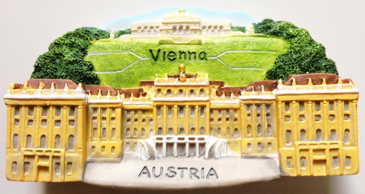 Schonbrunn Palace (Schönbrunn) Vienna Austria Resin 3D fridge Refrigerator Thai Magnet Hand Made Craft.