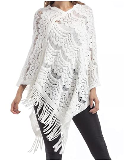 bb2601d7216 Comfy Womens Tassel Plus Size Knitting Solid Tunic Chic Cardigan Top White  One Size at Amazon Women s Clothing store