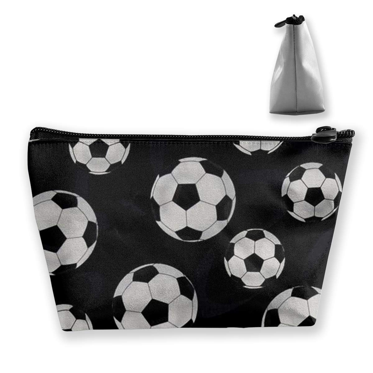 f67f24b9fb3e Amazon.com : Football Cosmetic Bag Travel Makeup Bag Portable ...