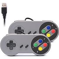 Link-e: 2 X Super Nintendo SNES USB-gamepad/joystick för spel på PC/MAC