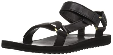 Teva Damen W Original Universal Crafted Leather Sandalen, Schwarz (Black  BLK), 36 50fbad4add