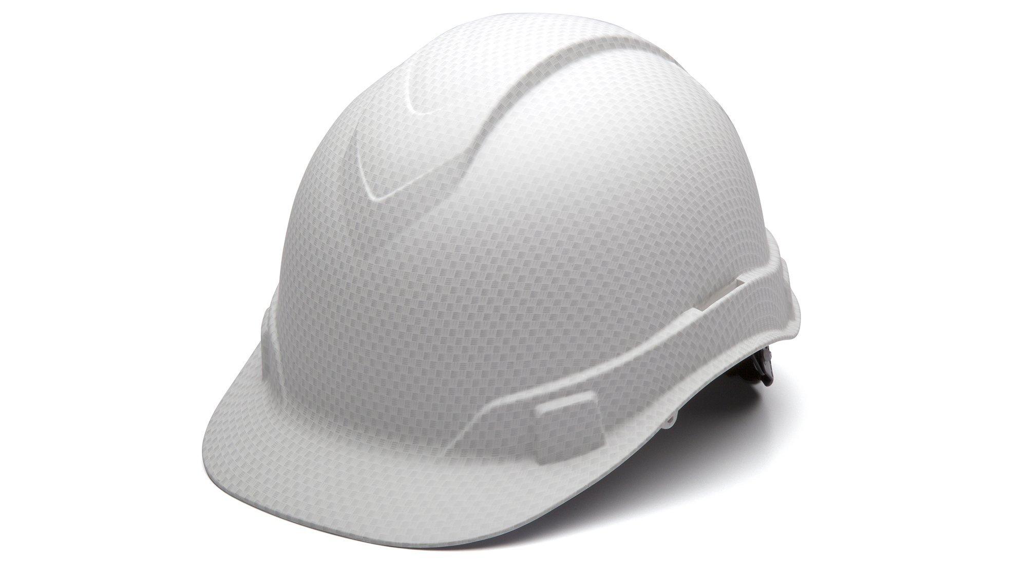 Pyramex HP44116 Ridgeline Matte White Graphite Cap Style Hard Hat by Pyramex Safety