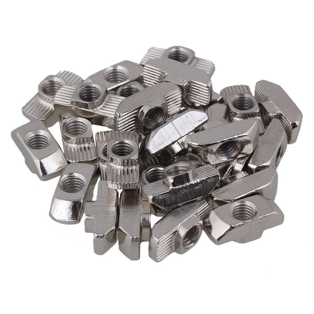 Yibuy 30 Piè ces 40 Sé rie europé enne M6 Pendantes en T-Slot É crou en Aluminium Profil en Acier Carbone etfshop