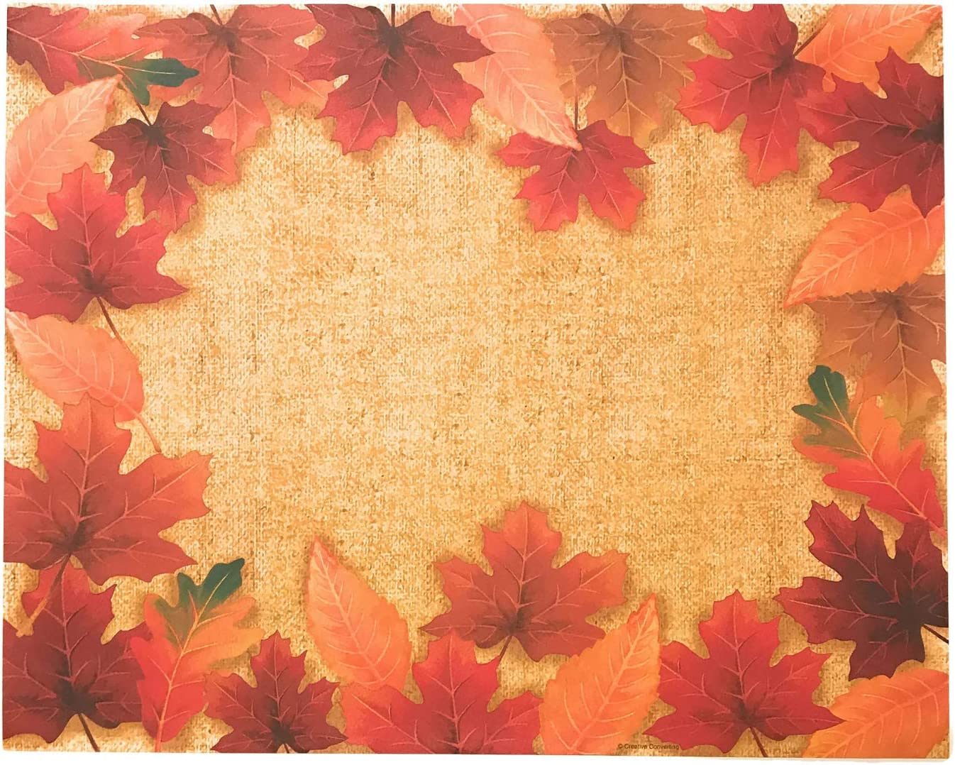 Autumn Decor Fall Maple Leaves Paper Placemats 36 Count Disposable Paper Placemats
