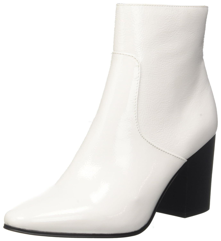 Calvin Klein Jeans Adrienne Crinkle Patent, Botines para Mujer Blanco (White 000)